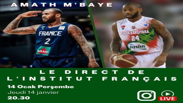 Institut français Türkiye basketbolun yıldızını ağırlıyor.