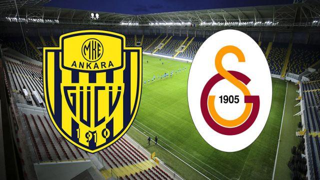 Galatasaray'ın Ankaragücü maç kadrosu
