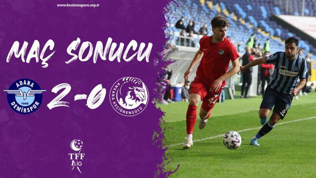 Adana'da hüsran 0-2
