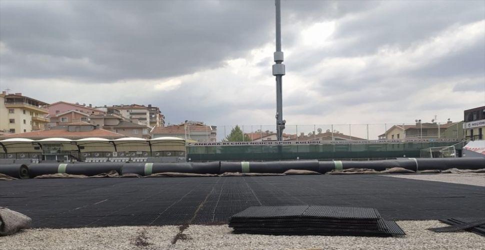 Aktepe Stadı'nda çalışmalar sürüyor