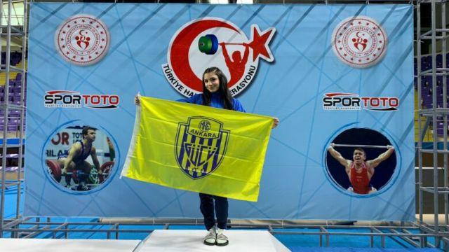 Ankaragücü sporcusu Melisa Güneş Türkiye şampiyonu oldu