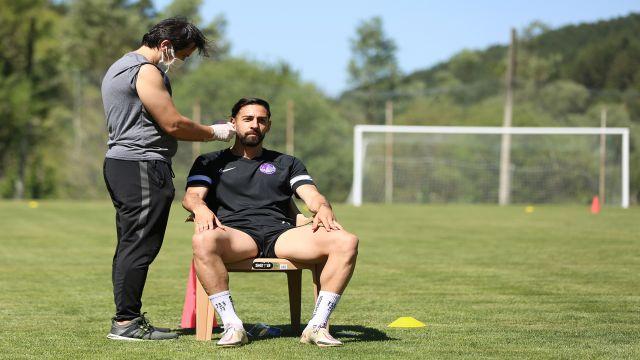 Keçiörengücü'nde futbolculara laktat testi yapıldı...