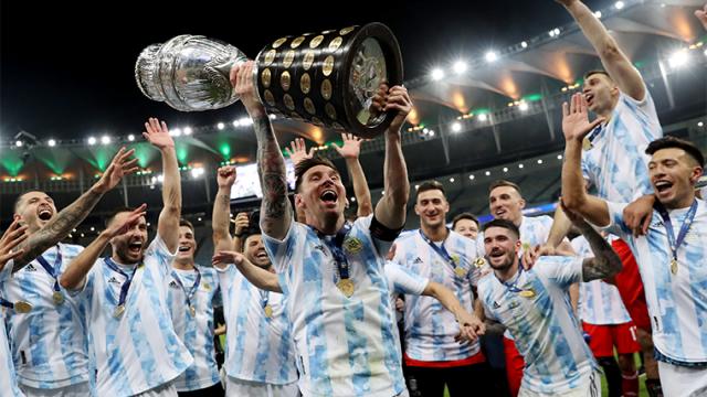 Messi'nin Milli takımla ilk kupası