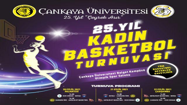 Çankaya Üniversitesi basketbol turnuvası başlıyor
